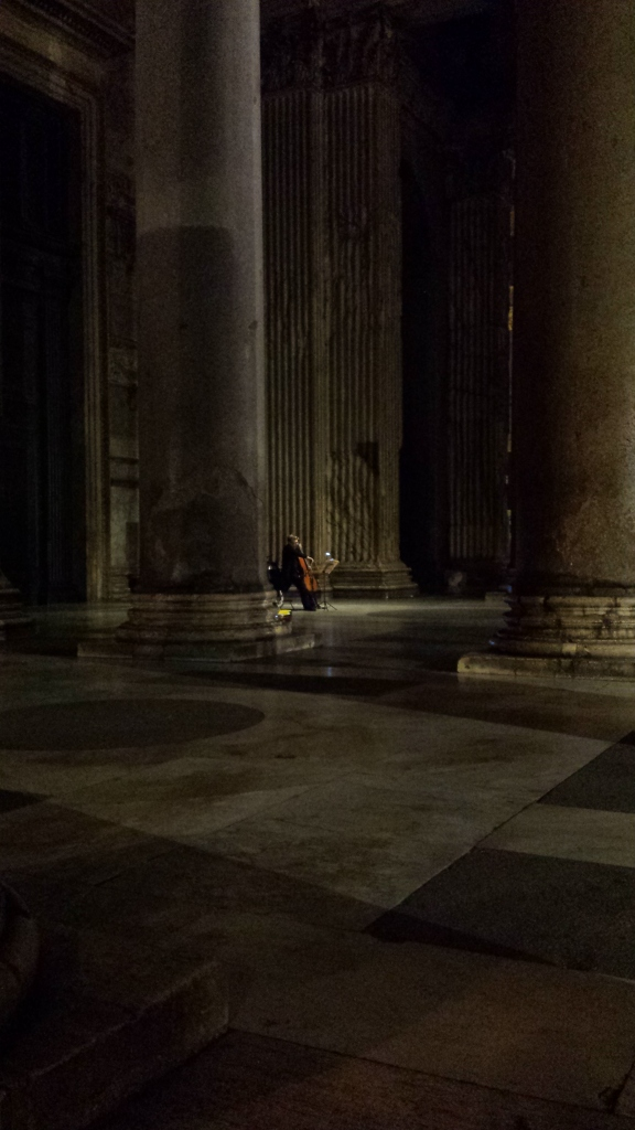 Very talented cellist performing. Pure magic.